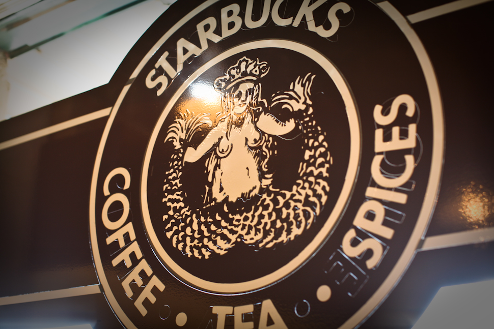 The original Starbucks logo