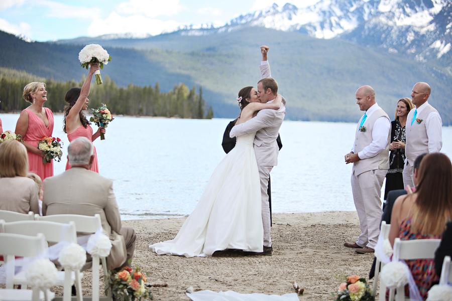 Brittany Tyson Redfish Lake Wedding In Stanley Idaho